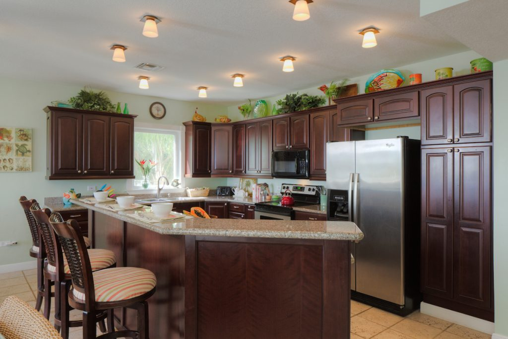 An exceptionally well stocked gourmet kitchen will please any cook.